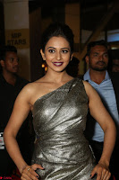 Rakul Preet Singh in Shining Glittering Golden Half Shoulder Gown at 64th Jio Filmfare Awards South ~  Exclusive 034.JPG