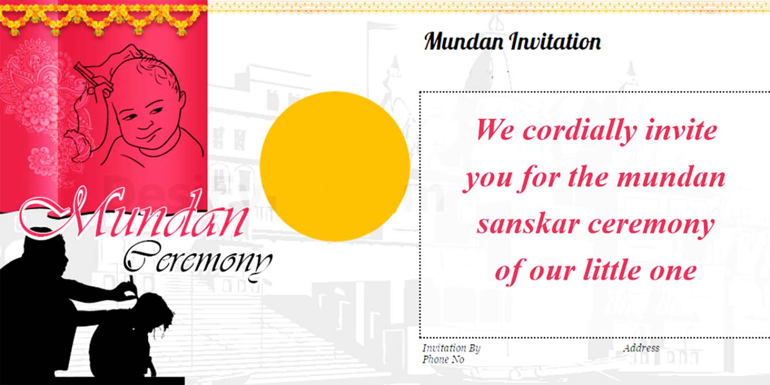 Mundan ceremony invitation quotes card design and wordings mundan sanskar card stopboris Gallery