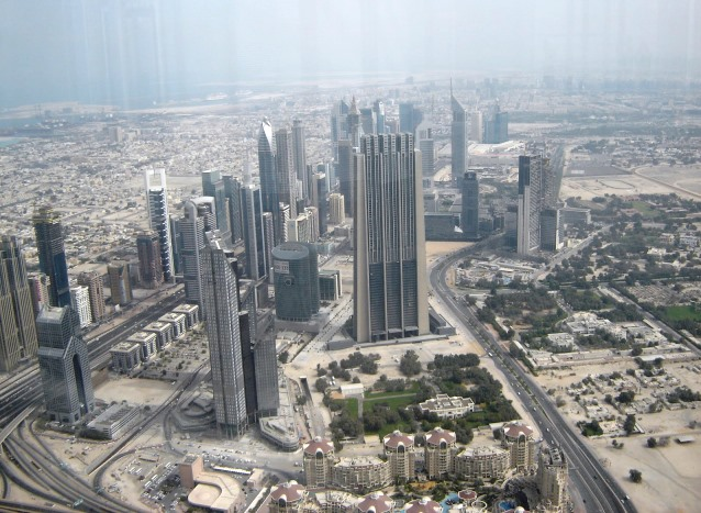 picture from Observation Deck of Burj Khalifa