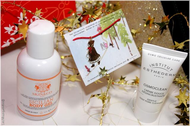Pretty Merry Christmas de Birchbox VS Contes de Noël de Glossybox ! Battle en décembre 2015 - Skin&Co, Institut Esthederm - Les Mousquetettes©