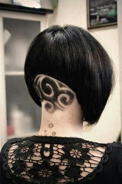 impressive hair tattoos girls
