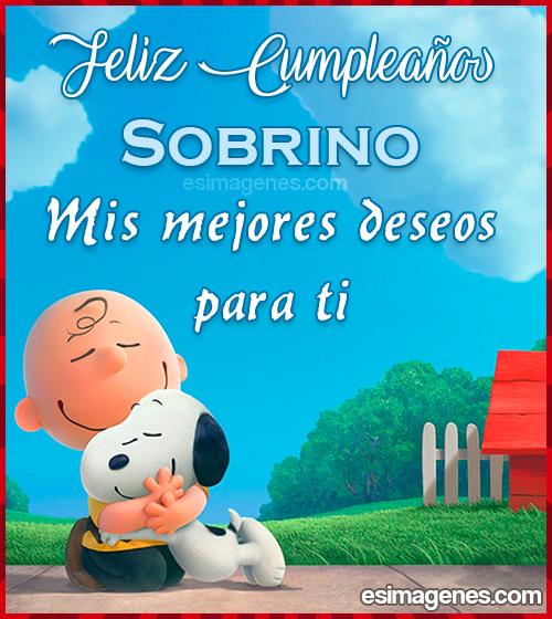 Tarjeta de Feliz Cumpleaños Sobrino