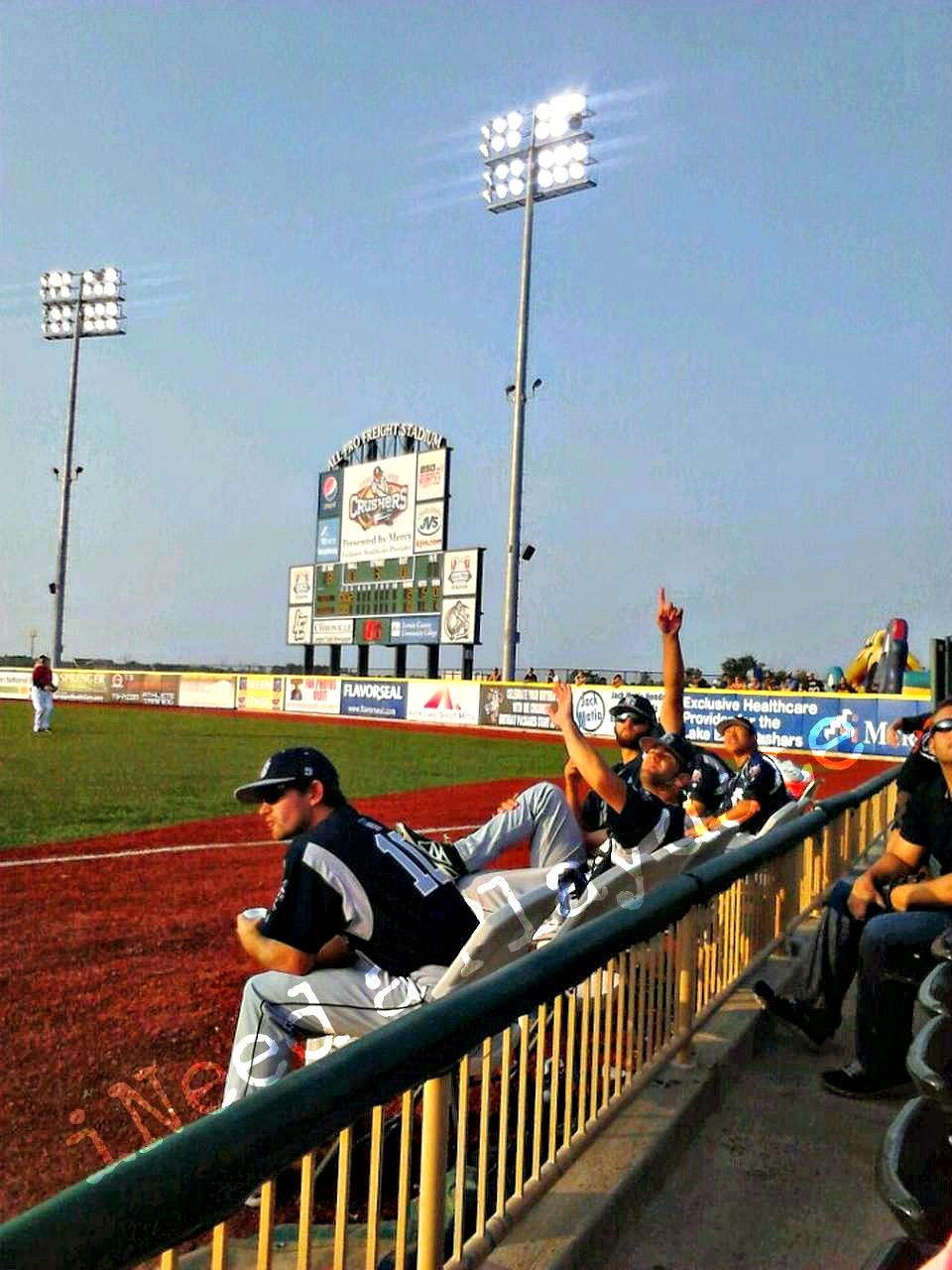 Lake Erie Crushers game in Avon, Ohio