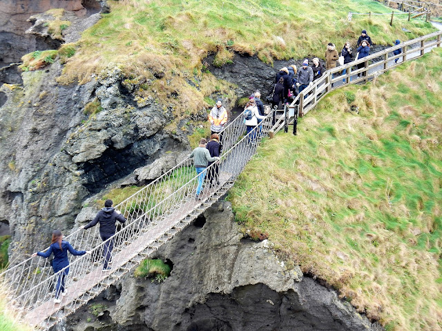 Carrick-a-rede rope bridge, Chausée des Géants, Irlande, Giant´s Causeway, Elisa N, blog de voyages