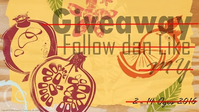 Pemenang Giveaway Follow dan Like MY
