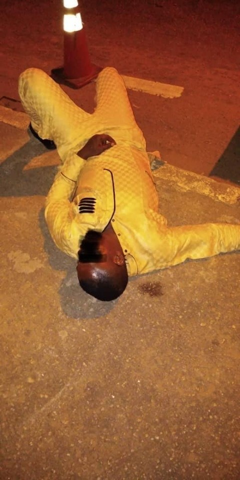 Police rescues drunk man found unconscious in Lagos (photos)
