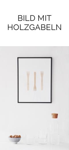 DIY Bild mit Holzgabeln im minimalistischen Stil einfach selber machen. Tasteboykott Blog DIY.