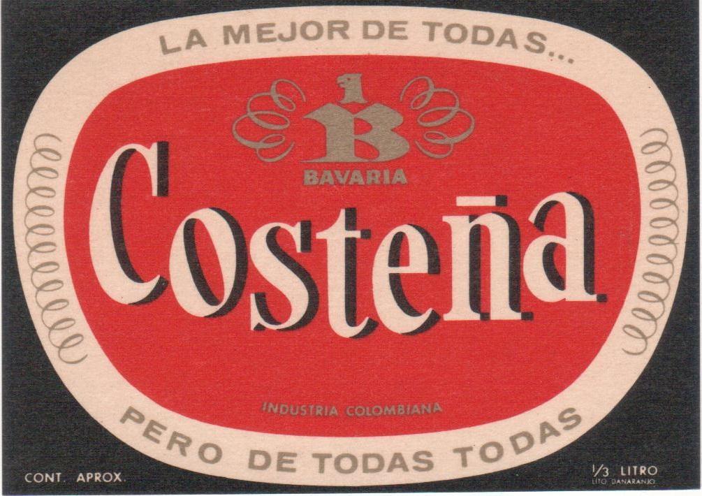 El Mejor Porter Para Colorear El Mejor Porter Para Imprimir: ETIQUETAS DE CERVEZAS Y MALTAS COLOMBIANAS: COSTEÑA