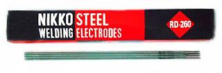 Kawat Las Elektroda Nikko Steel - Jual Nikko Steel RD-260 - Nikko Steel RD-260 Bekasi