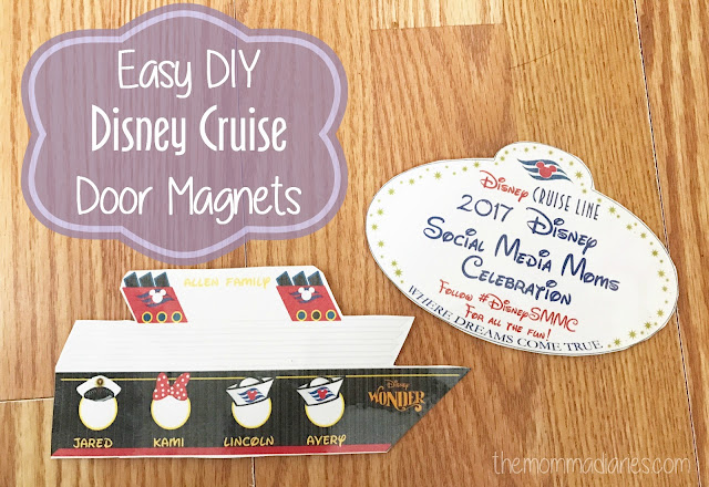 DIY Disney Cruise Door Magnets