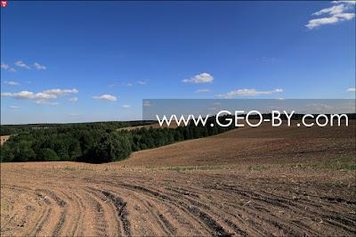 Вид с высоты 303 у Душково в сторону деревни Химороды