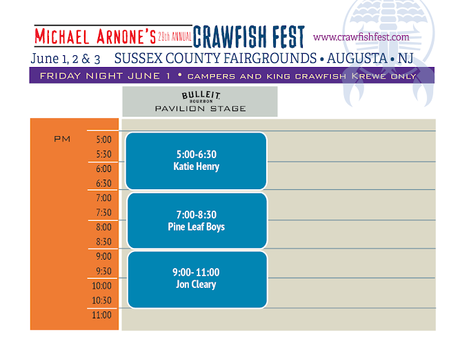 Michael Arnone's Crawfish Fest - Stage Schedule