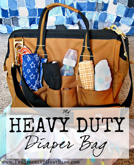 diaper bag set up diaper bag contents what do I need in my diaper bag baby infant care rough tough durable heavy duty diaper bag manly diaper bag diaper bag for dad masculine diaper bag