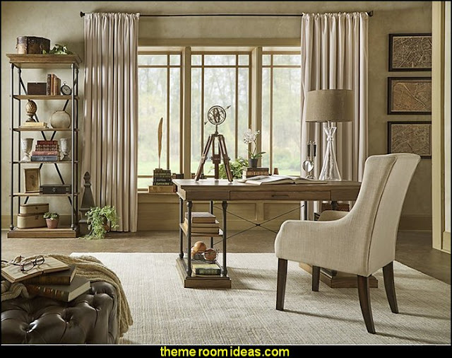 office furniture - office decorating - study desk - den furniture -  office chairs - home office design - Organizing your Home Office - Bookshelves
