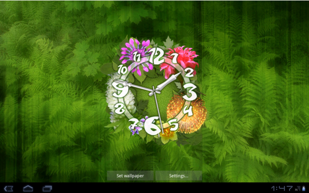 30 Live Wallpapers For Android In 2016: Flower Clock Live Wallpaper For Android App Free Download