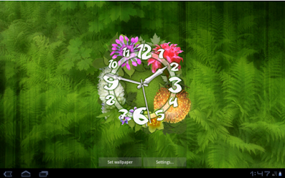 Flower Clock Live Wallpaper for Android app free download images2