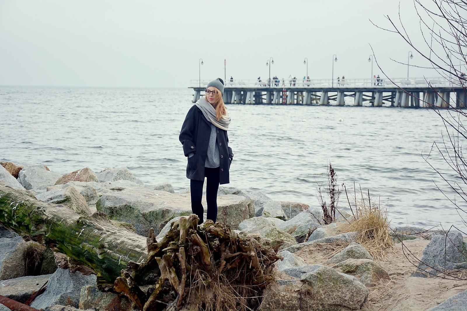 morze zimą, co zobaczyć w Gdyni, klif