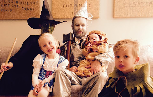 Family Costume 2015. The Wizard of Oz. Wicked witch, Tin Man, Lion, Scarecrow and of course, Dorothy.
