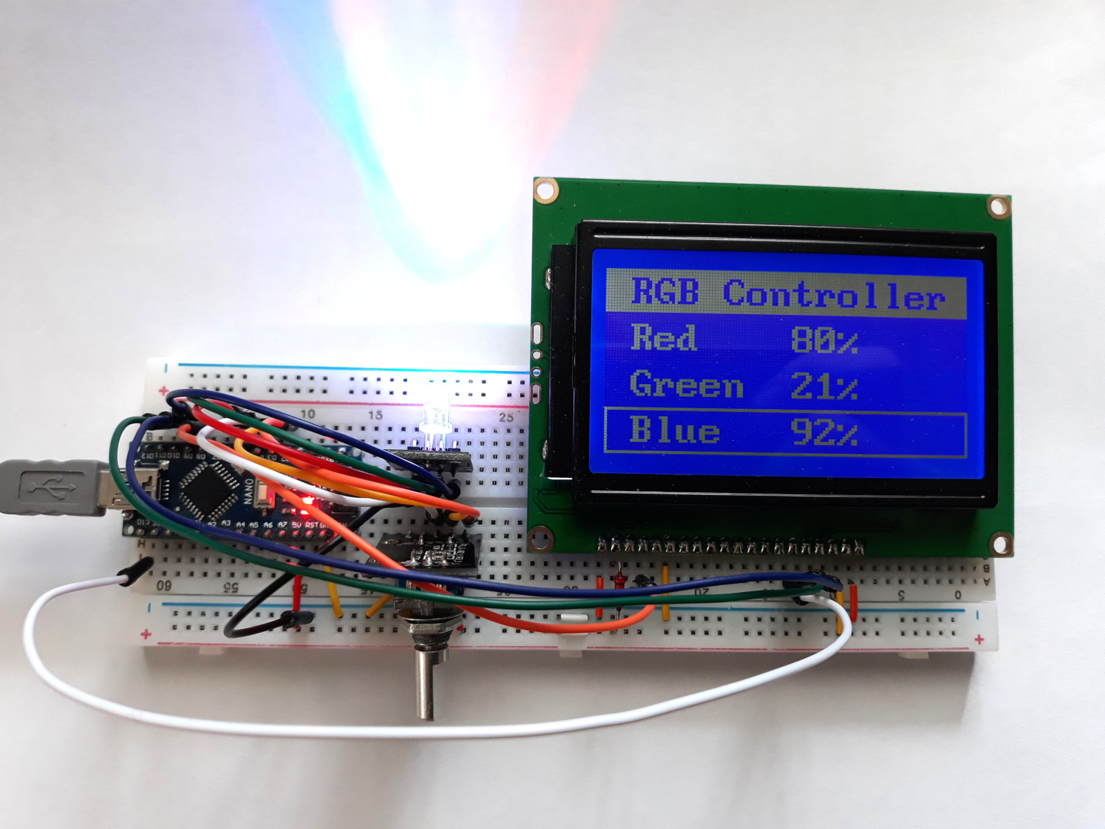 Simple Text Menu for ST7920 Graphic LCD · One Transistor