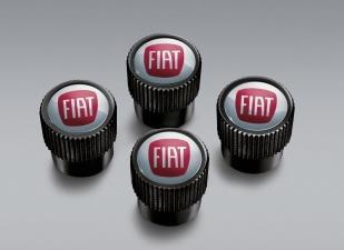 Fiat Valve Stem Caps- Black