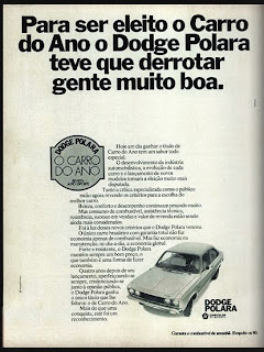 propaganda Dodge Polara - Chrysler - 1977; Chrysler; brazilians car in the 70s; reclame de carros anos 70. brazilian advertising cars in the 70. os anos 70. história da década de 70; Brazil in the 70s; propaganda carros anos 70; Oswaldo Hernandez;