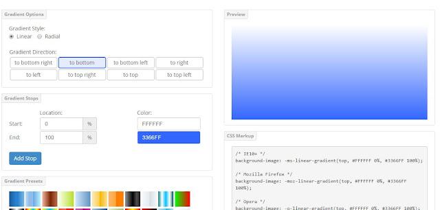 css portal online gradient generator