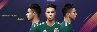 PES 6 Faces Jonathan González by Gabo CR Facemaker
