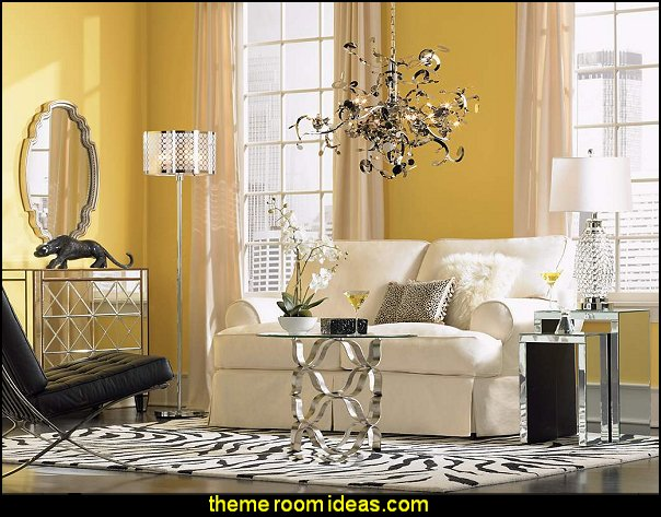 Luxe Living Room Hollywood glam living rooms - old Hollywood style decorating ideas - Luxe living rooms furniture - old Hollywood glamor decorating ideas - Hollywood glam furniture - mirrored furniture