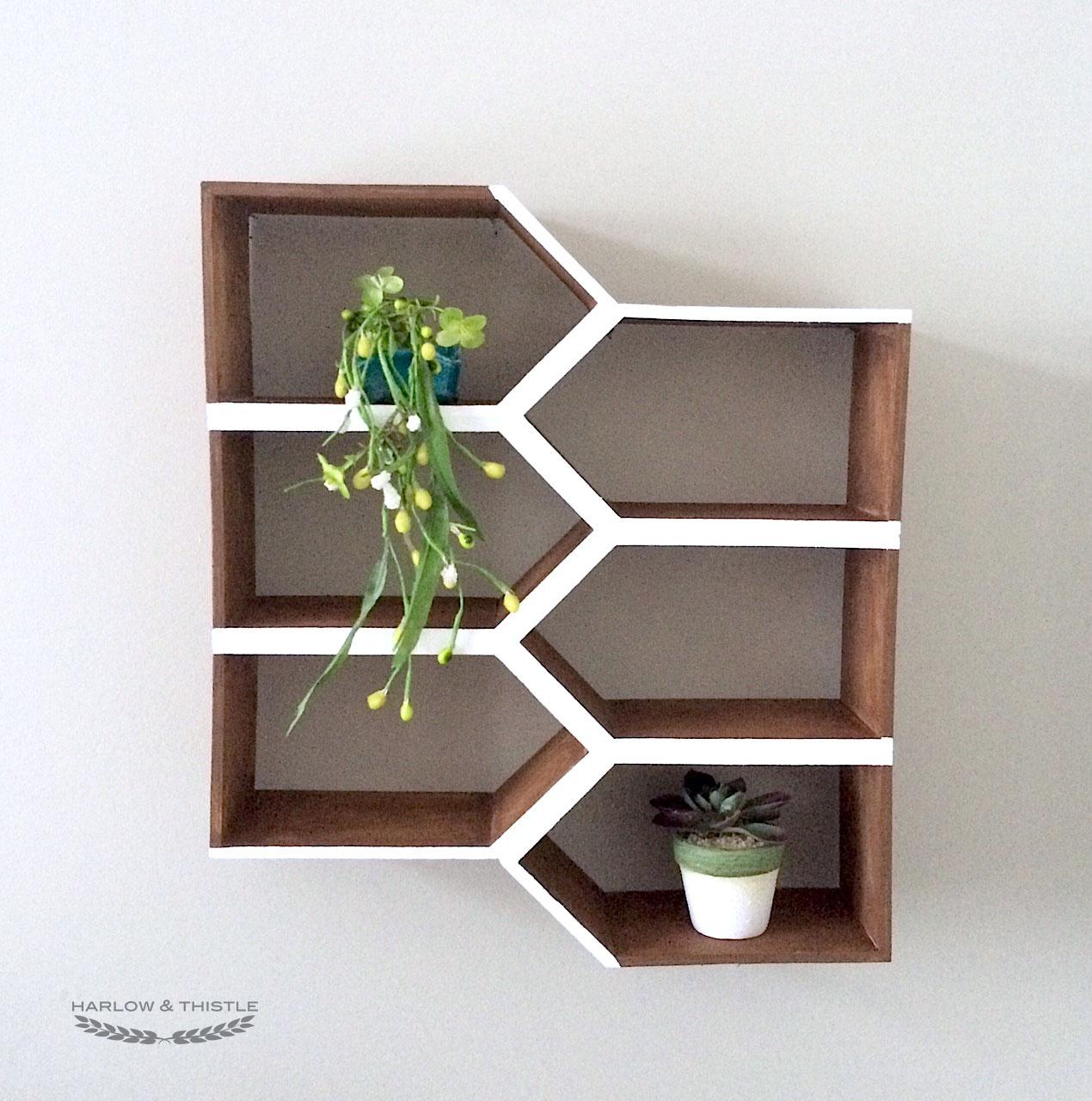Diy Geometric Wall Shelf Harlow Thistle Home Design