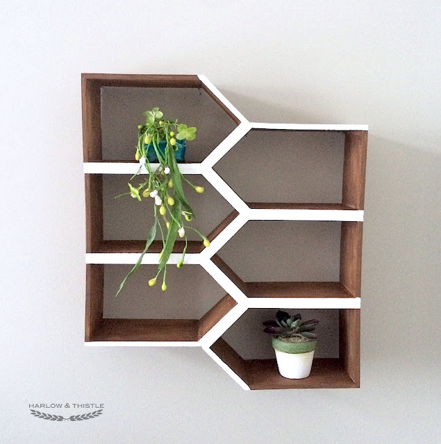 DIY Geometric Wall Shelf MinWaxCanada IDS17 Harlow & Thistle
