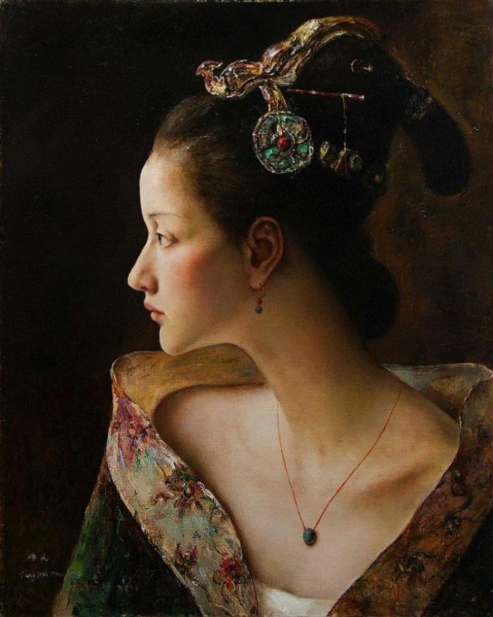 Китайские женщины в исторических костюмах