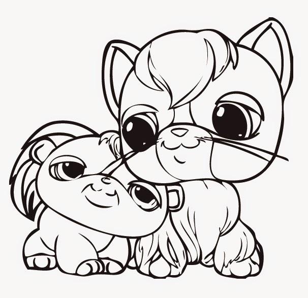 Malowanki kolorowanki do druku i rysowanie pet shop for Littlest petshop coloring pages