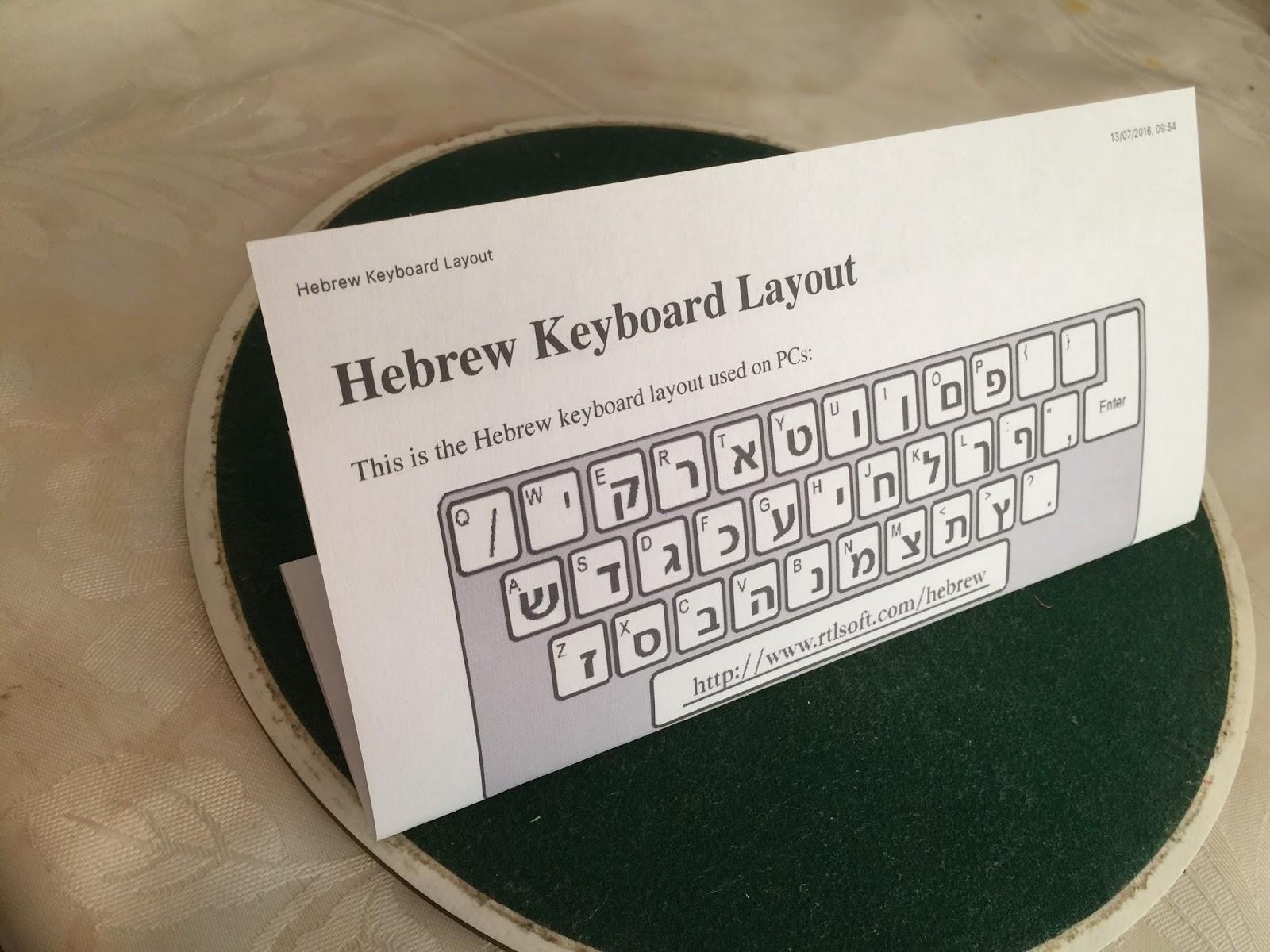 Travel with Angela Lansbury: Printing alphabets and Keyboard