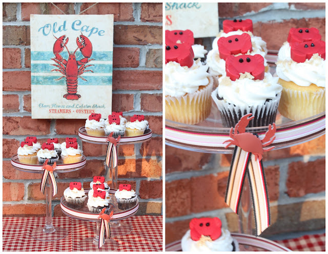 Summer Crab Shack Cupcakes