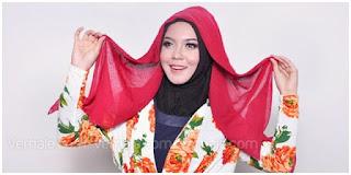 Hijab Tutorial : Cantik Mewah Berkerudung Merah 2