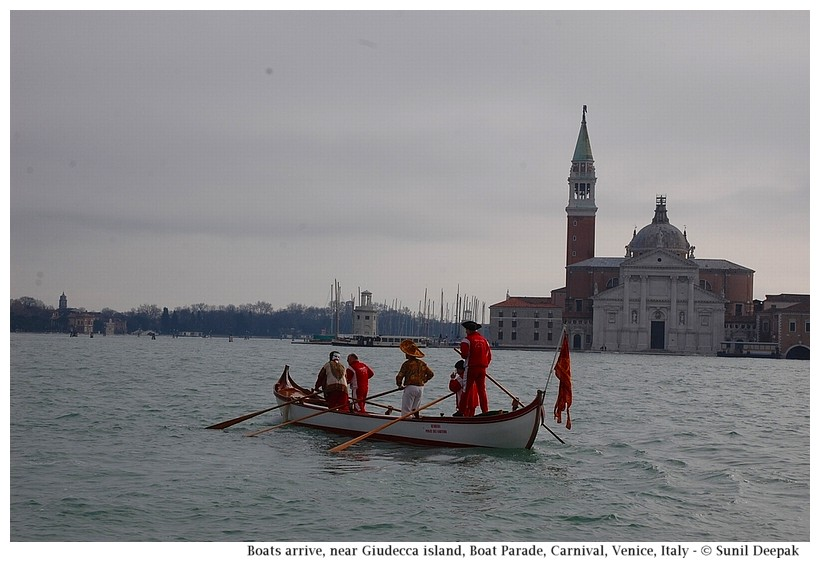 Boats arrive near Giudecca island, Boat Parade, Carnival, Venice, Italy - © Sunil Deepak