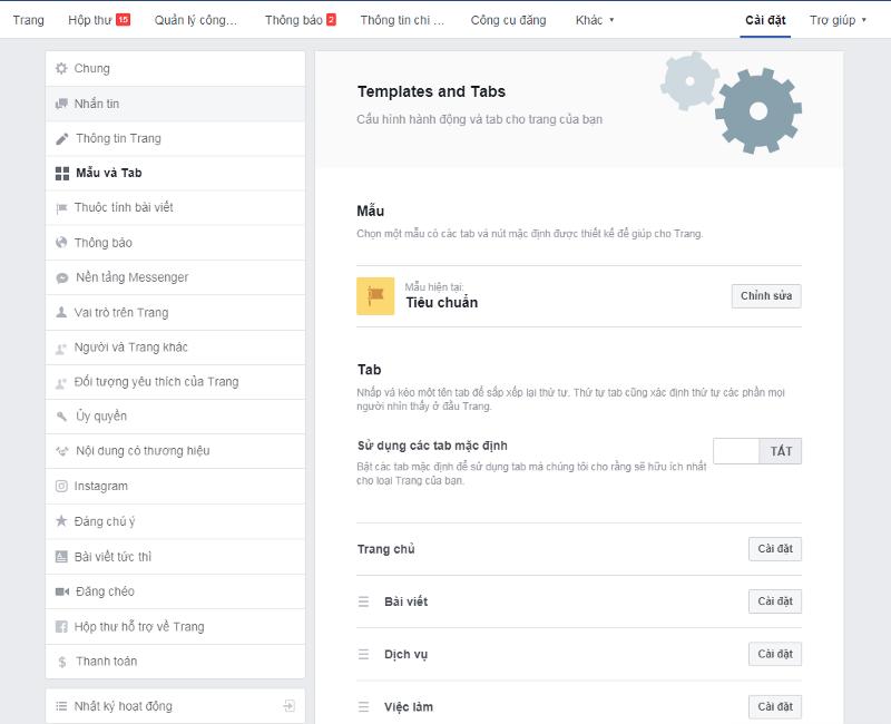 Mẫu trang Fanpage cần chuyển về định dạng Video để bật tính năng Fan Cứng