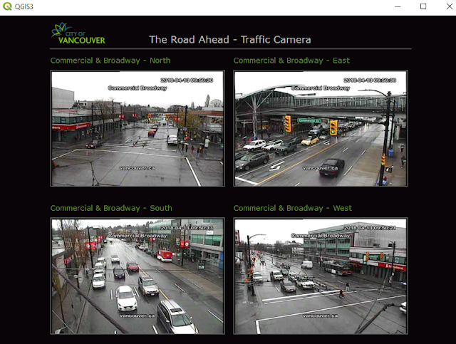 Traffic camera view in QT web browser