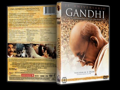 Capa DVD Gandhi [25º Aniversário] (Oficial)
