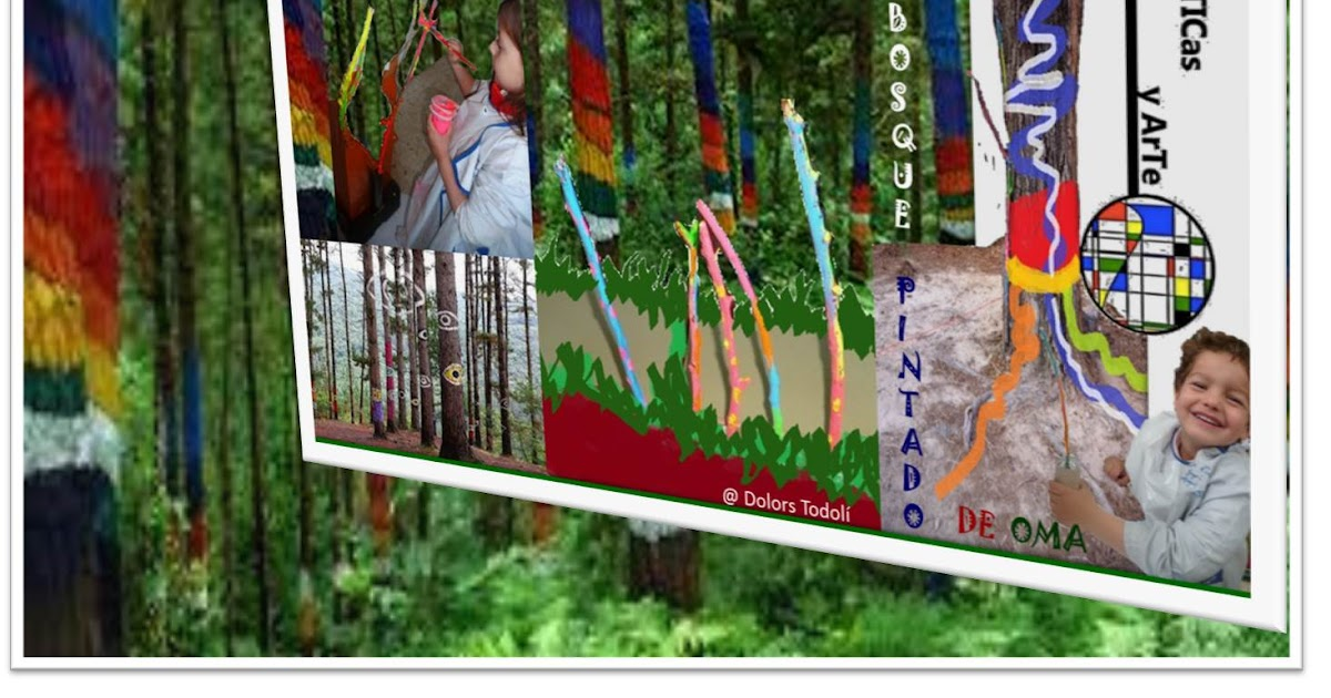 """El bosque pintado y otros """"Bosques"""" de Agustin Ibarrola.. Mates+Arte y Entorno."""