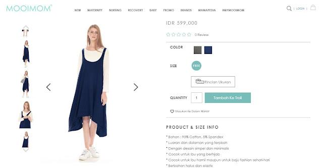 Review Baju Hamil dan Menyusui dari Mooimom