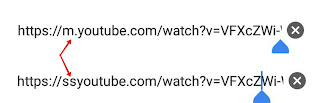 YouTube videos link change than search
