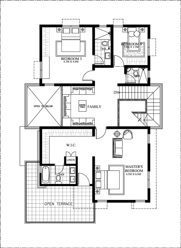 Floor Plan With Elevation Modern : Thoughtskoto
