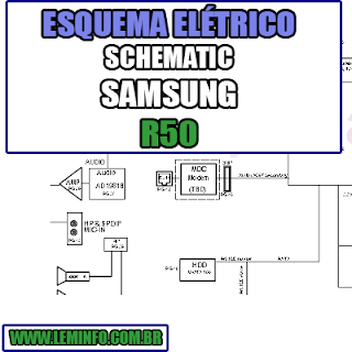 Esquema Elétrico Notebook Samsung R50 Laptop Manual de Serviço  Service Manual schematic Diagram Notebook Samsung R50 Laptop   Esquematico Notebook Placa Mãe Samsung R50 Laptop