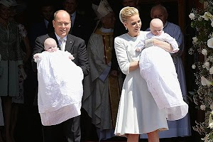 Prince Albert II and Princess Charlene christened twins