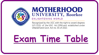 Motherhood University Time Table 2019