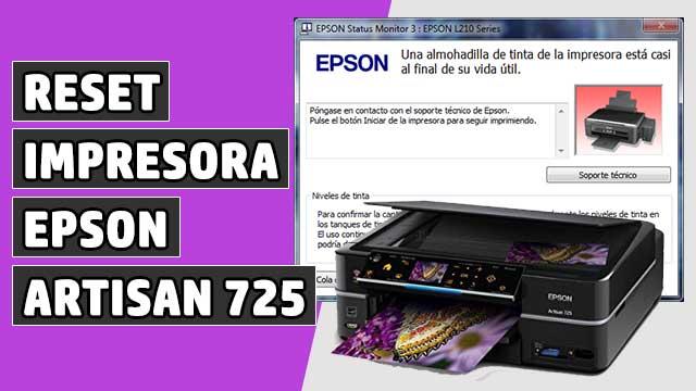 reset Almohadillas impresora EPSON Artisan 725