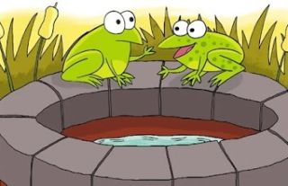 the thirsty frogs
