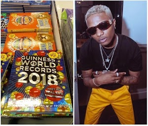 Daddy Yoo Wizkid makes 2018 Guinness Book of World Records (photo)