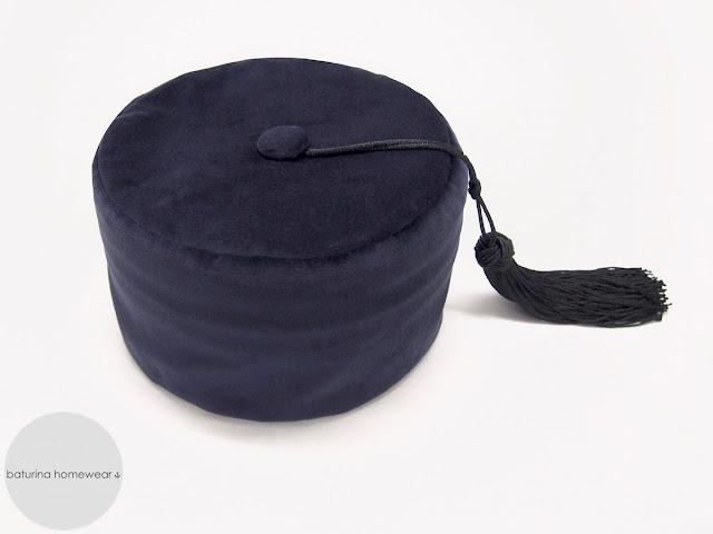 mens velvet smoking hat with tassels vintage gentlemans smoker cap tasseled traditional victorian english warm velvet silk cotton